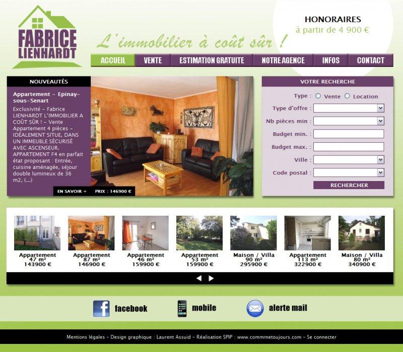 fabrice lienhardt l immobilier co t s r comme toujours votre site internet spip sur. Black Bedroom Furniture Sets. Home Design Ideas